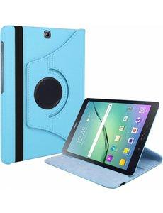 Merkloos Samsung Galaxy Tab S2 9,7 inch (SM-T810) Tablet Case met 360 graden draaistand cover hoesje - Blauw