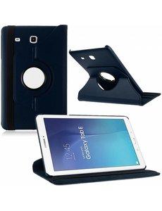 Merkloos Tablet hoesje 360? draaibaar voor Samsung Galaxy Tab E 9,6 inch Tab E T560 / T561 - Donkder Blauw