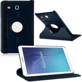 Merkloos Tablet hoesje Case Cover 360ᄚ draaibaar voor Samsung Galaxy Tab E 9,6 inch Tab E T560 / T561 - Donkder Blauw
