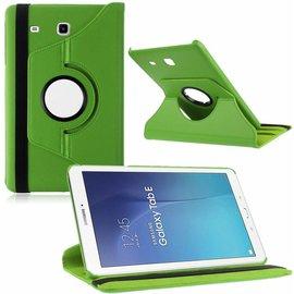 Merkloos Tablet hoesje Case Cover 360ᄚ draaibaar voor Samsung Galaxy Tab E 9,6 inch Tab E T560 / T561 - Groen