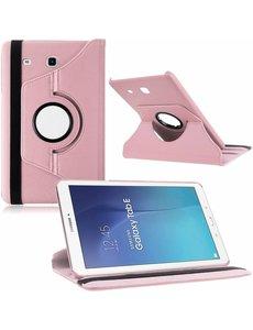 Merkloos Tablet hoesje 360? draaibaar voor Samsung Galaxy Tab E 9,6 inch Tab E T560 / T561 - Licht Roze