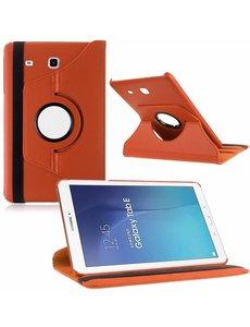 Merkloos Tablet hoesje 360? draaibaar voor Samsung Galaxy Tab E 9,6 inch Tab E T560 / T561 - Oranje