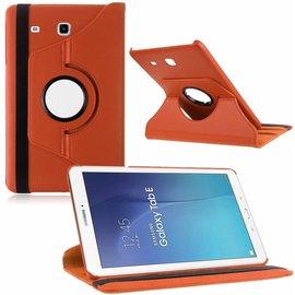 Merkloos Tablet hoesje Case Cover 360ᄚ draaibaar voor Samsung Galaxy Tab E 9,6 inch Tab E T560 / T561 - Oranje