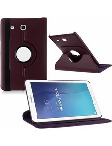 Merkloos Tablet hoesje 360? draaibaar voor Samsung Galaxy Tab E 9,6 inch Tab E T560 / T561 - Paars