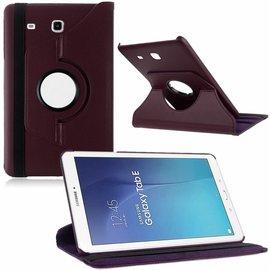 Merkloos Tablet hoesje Case Cover 360ᄚ draaibaar voor Samsung Galaxy Tab E 9,6 inch Tab E T560 / T561 - Paars
