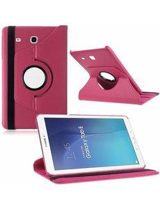 Merkloos Tablet hoesje 360? draaibaar voor Samsung Galaxy Tab E 9,6 inch Tab E T560 / T561 - Pink / Roze