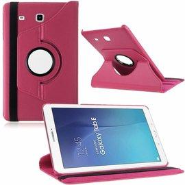 Merkloos Tablet hoesje Case Cover 360ᄚ draaibaar voor Samsung Galaxy Tab E 9,6 inch Tab E T560 / T561 - Pink / Roze