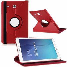Merkloos Tablet hoesje Case Cover 360ᄚ draaibaar voor Samsung Galaxy Tab E 9,6 inch Tab E T560 / T561 - Rood