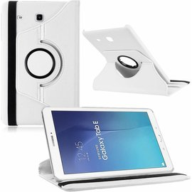 Merkloos Tablet hoesje Case Cover 360ᄚ draaibaar voor Samsung Galaxy Tab E 9,6 inch Tab E T560 / T561 - Wit