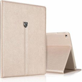Xundd Xundd iPad Air 2  Noble Series Slim Luxury PU Leather Case cover hoesje met Stand en Magnetic Closure Goud