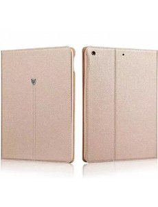 Xundd Xundd iPad 2017 (9.7 inch) noble business flip hoesje met stand foldable magneet beschermhoes tablet case Champagne Goud