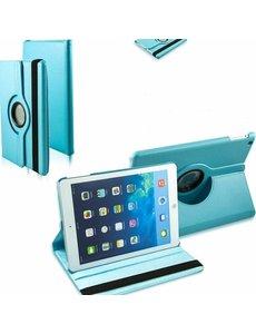 Merkloos iPad Air Case cover 360 graden draaibare hoesje - Baby Blauw