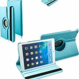 Merkloos iPad Air Case cover 360 graden draaibare hoes met Multi-stand kleur Baby Blauw