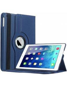 Merkloos iPad Air Case cover 360 graden draaibare hoesje - Donker Blauw
