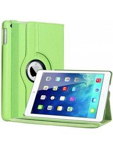 Merkloos iPad Air Case cover 360 graden draaibare hoesje - Groen