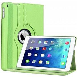 Merkloos iPad Air Case cover 360 graden draaibare hoes met Multi-stand kleur Groen