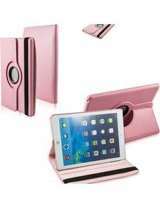 Merkloos iPad Air Case cover 360 graden draaibare hoesje - Licht Roze