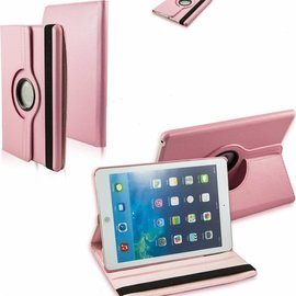 Merkloos iPad Air Case cover 360 graden draaibare hoes met Multi-stand kleur Licht Roze