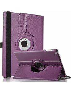 Merkloos iPad Air Case cover 360 graden draaibare hoesje - Paars