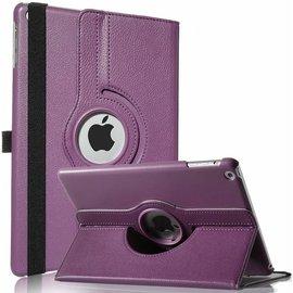 Merkloos iPad Air Case cover 360 graden draaibare hoesje met Multi-stand kleur Paars