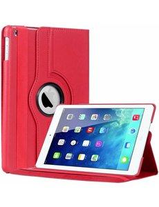 Merkloos iPad Air Case cover 360 graden draaibare hoesje - Rood