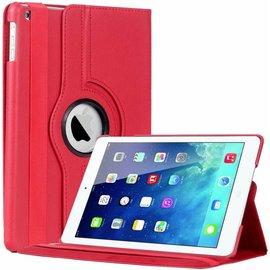 Merkloos iPad Air Case cover 360 graden draaibare hoes met Multi-stand kleur Rood