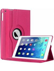 Merkloos iPad Air Case cover 360 graden draaibare hoesje - Roze / Pink