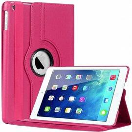 Merkloos iPad Air Case cover 360 graden draaibare hoesje met Multi-stand kleur Roze / Pink