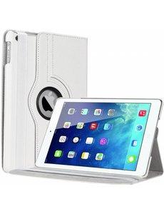 Merkloos iPad Air Case cover 360 graden draaibare hoesje - Wit