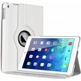Merkloos iPad Air Case cover 360 graden draaibare hoes met Multi-stand kleur Wit