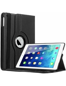 Merkloos iPad Air Case cover 360 graden draaibare hoesje - Zwart