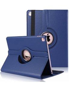 Merkloos iPad Pro 9.7 inch Case met 360? draaistand cover hoesje - Donker Blauw