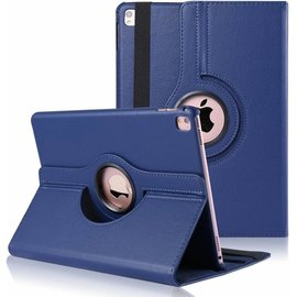 Merkloos iPad Pro 9.7 inch Case met 360ᄚ draaistand cover hoesje - Donker Blauw