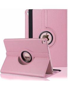 Merkloos iPad Pro 9.7 inch Case met 360? draaistand cover hoesje - Licht Roze