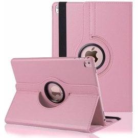 Merkloos iPad Pro 9.7 inch Case met 360ᄚ draaistand cover hoesje - Licht Roze