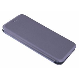 Ntech Ntech iPhone Xs Max Luxe Grijs TPU / Kunststof Flip Cover met Magneetsluiting