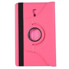 "Merkloos Samsung Galaxy Tab A 10.5"" SM T590 / T595 2018 Roze Tablet Hoesje met 360° draaistand"