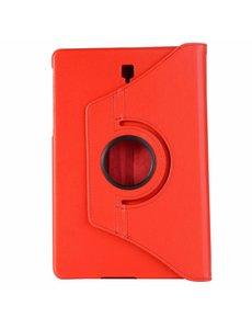 Merkloos Samsung Galaxy Tab S4 10,5 T830 / T835 Rood Tablet Hoesje met 360° draaistand