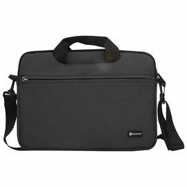 Merkloos Macbook Draagtas 13 inch Zwart Sheng Beier 13.3 inch  laptop/tablet Shock & Spatwater proof met Schouderriem