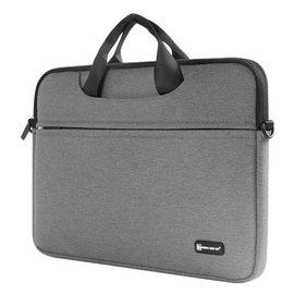 Merkloos Macbook Draagtas 13 inch Grijs Sheng Beier 13.3 inch  laptop/tablet Shock & Spatwater proof met Schouderriemq