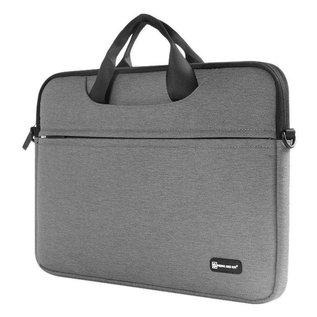 Merkloos Macbook Draagtas 13.3 inch Grijs Sheng Beier laptop/tablet Shock & Spatwater proof met Schouderriem