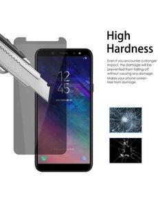 Merkloos Privacy Glazen Screenprotector voor Samsung Galaxy A6 / Anti Spy Tempered Glass