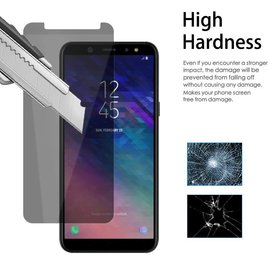 Merkloos Privacy Glazen Screenprotector  voor Samsung Galaxy A6 / Anti Spy Tempered Glass