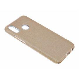 Merkloos Huawei P Smart+ ( Plus ) Goud Glitter TPU Back Cover Hoesje c