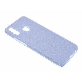Merkloos Huawei P Smart+ ( Plus ) Zilver Glitter TPU Back Cover Hoesje