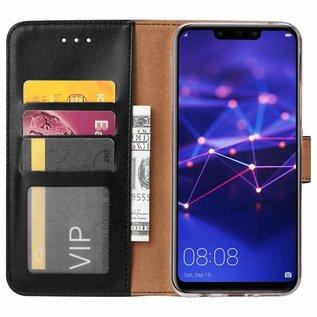 Ntech Ntech Huawei Mate 20 Lite Zwart Booktype / Portemonnee TPU Lederen Hoesje