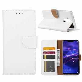 Ntech Ntech Huawei Mate 20 Lite Wit Booktype / Portemonnee TPU Lederen Hoesje