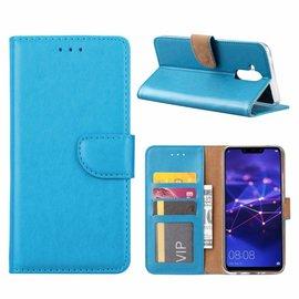 Merkloos Huawei Mate 20 Lite Blauw Booktype / Portemonnee TPU Lederen Hoesje