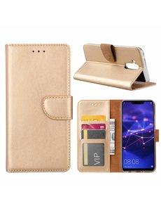 Merkloos Huawei Mate 20 Lite Goud Booktype / Portemonnee TPU Lederen Hoesje
