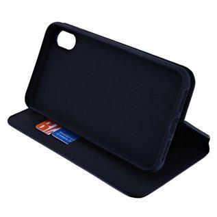 Merkloos Luxe Zwart TPU / PU Leder Flip Cover met Magneetsluiting voor iPhone Xs Max